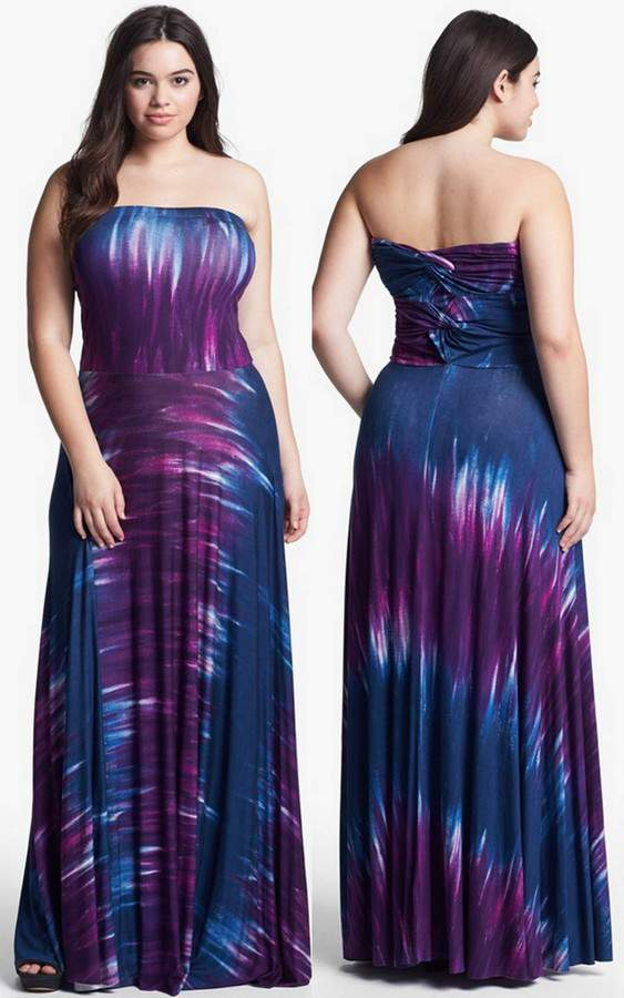 Gotta Have It: FELICITY & COCO Junior Plus Size Strapless Maxi ...