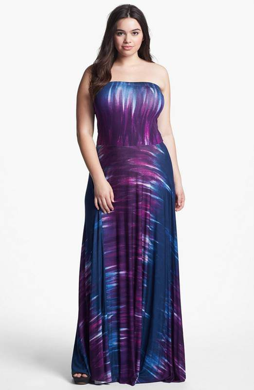 Gotta Have It: FELICITY & COCO Junior Plus Size Strapless Maxi Dress