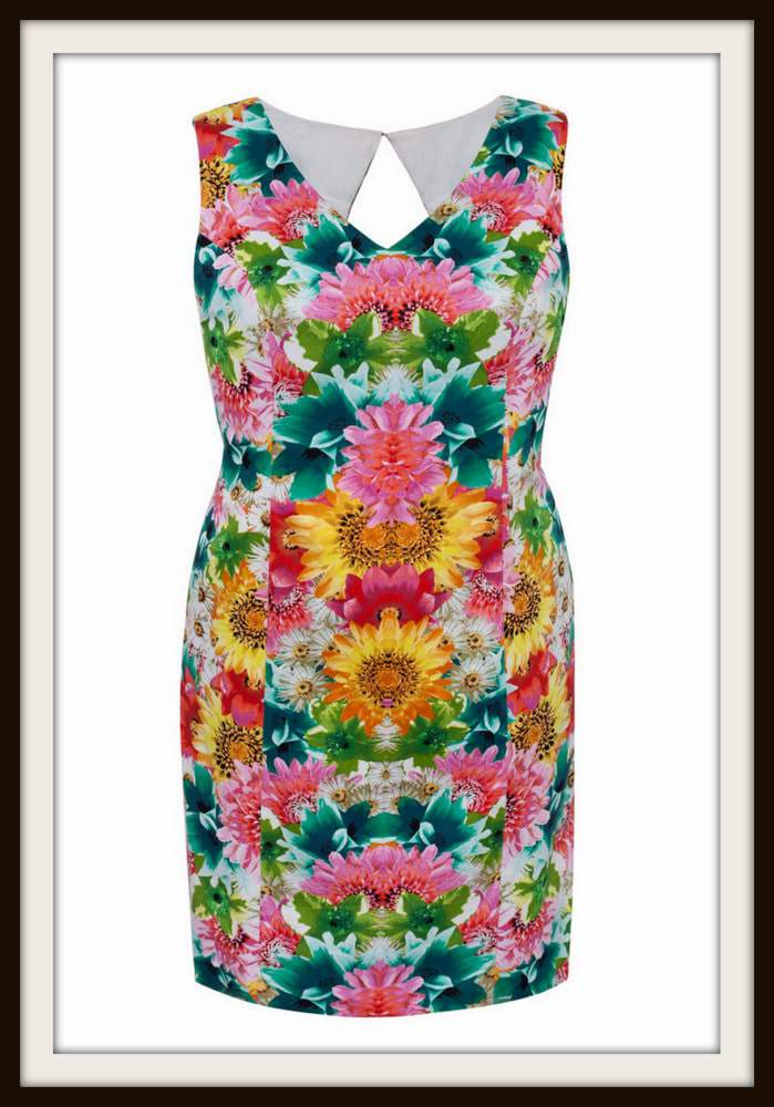 London Times Plus Size Garden Dress