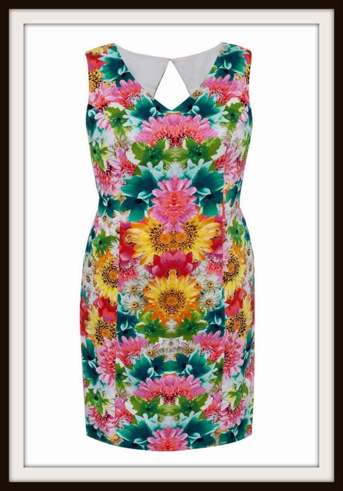 London Times Plus Size Garden Dress