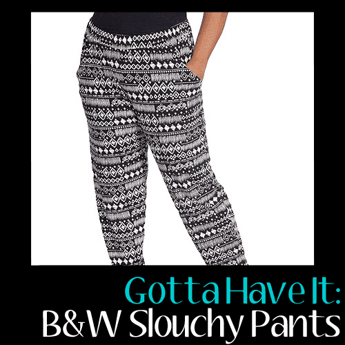 Gotta Have It: Playing in these Black and White Slouchy Pants