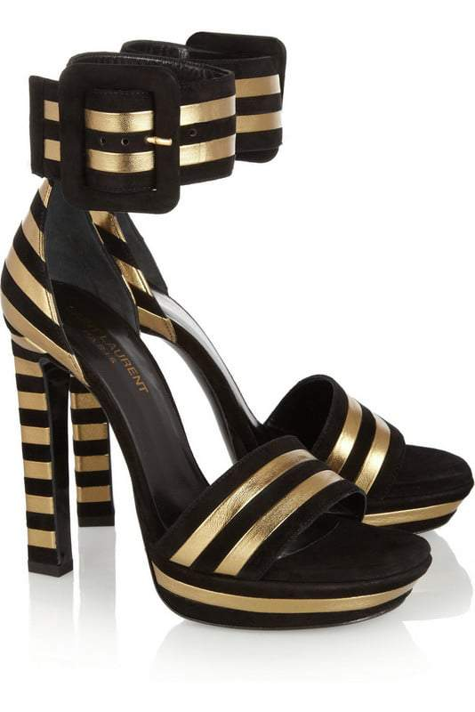 Striped Suede Saint Laurent