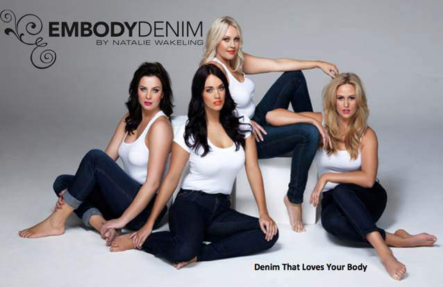 Australian plus size designer, Embody Denim Releases Hollywood Lights, an Embody Denim Clothing Collection