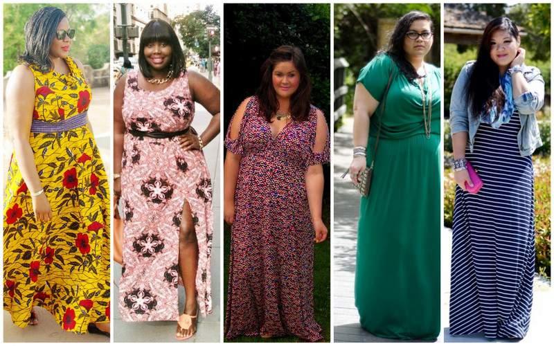 Five Looks We love: Plus Size Maxi Dresses