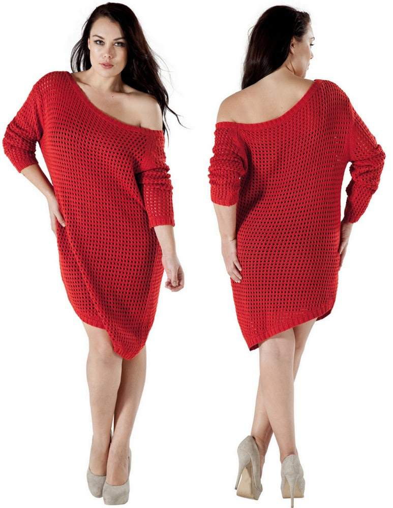 Australian plus size designer, 17 Sundays Sweater dress
