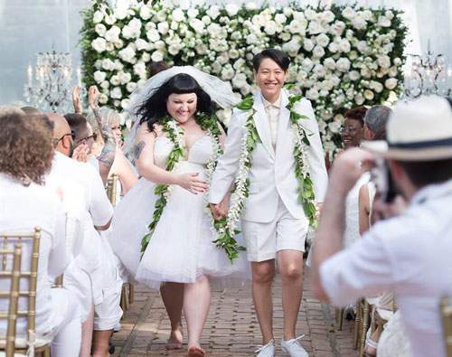 Beth Ditto Gets Married Rocking a Jean Paul Gaultier Custom Piece