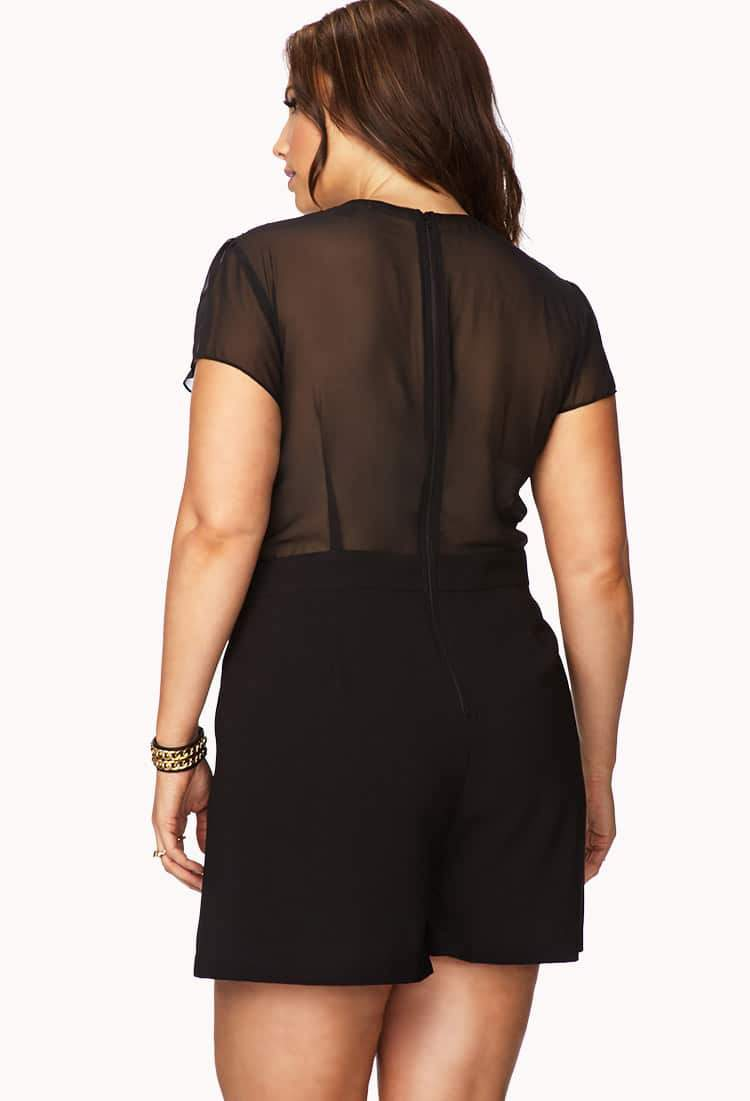 Forever 21 Plus Size Black Romper