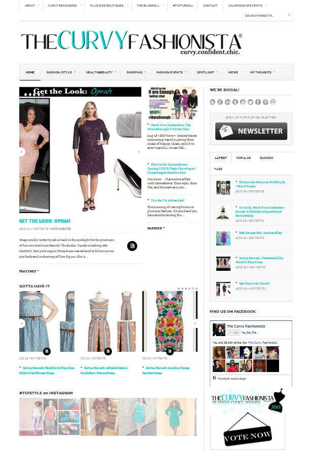 The Curvy Fashionista Plus Size Blog