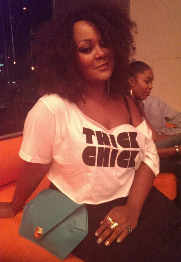 The CUrvy Fashoinista in Thick Chic Tee by Candy Strike