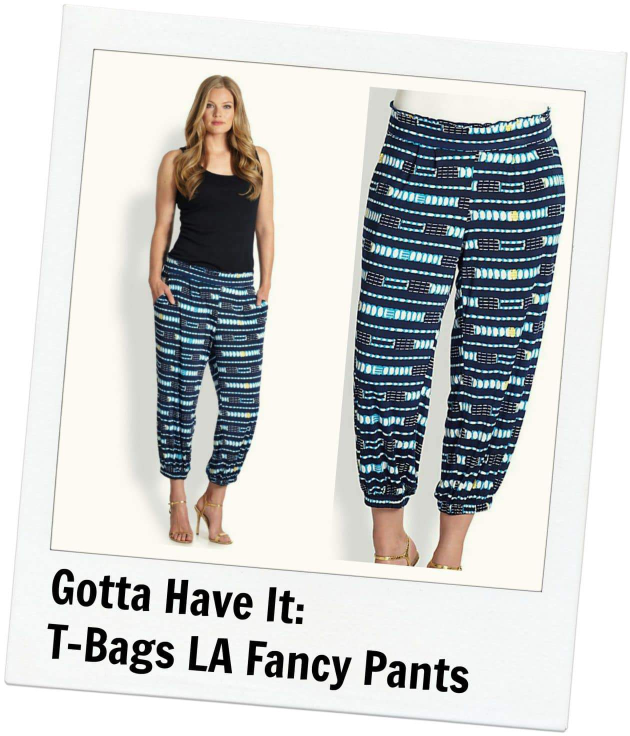 Gotta Have It: T BAGS LA Plus size patterned ankle pants