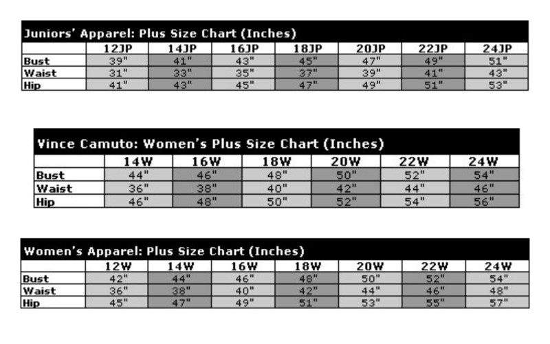 Junior Plus Size Vs Woman S