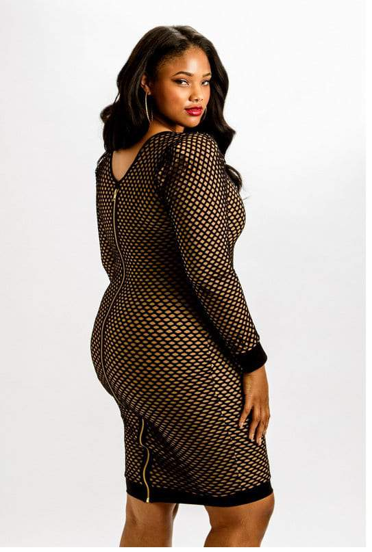 Rue 107 Plus Size Caged Lover Dress