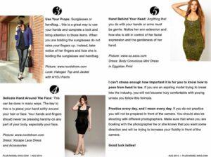 Plus Model Magazine Poses Feature