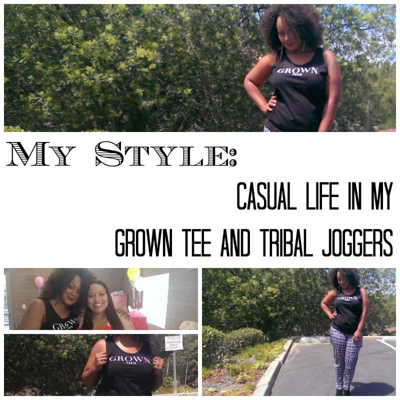 TCFStyle: Grown Tee and Wet Seal Plus Size Joggers