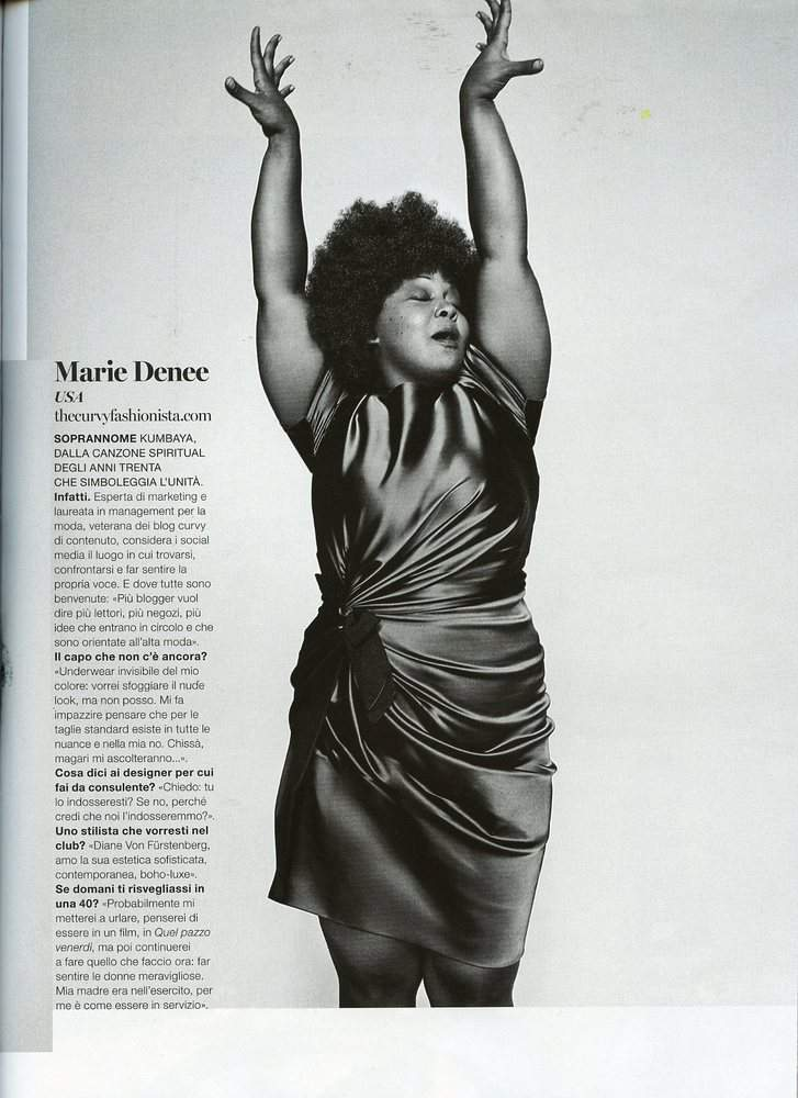 Marie Claire Italia Plus Size Editorial