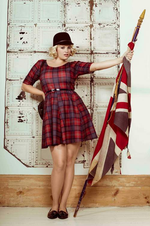 Pink CLove Plaid dress