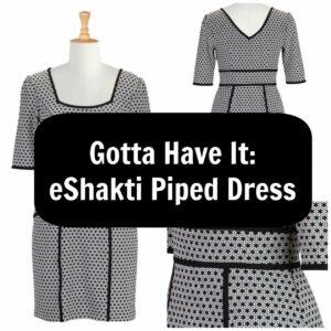 eshakti plus size piped dress