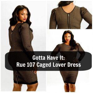 Rue 107 caged lover dress in plus size
