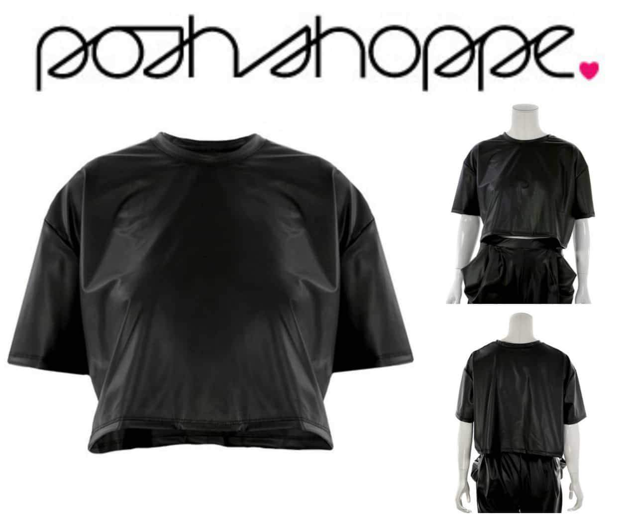 Gotta Have It: This Faux Leather Crop Top from Posh Shoppe