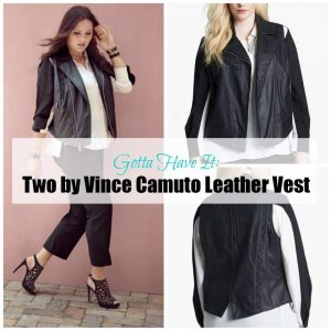 plus size leather vest by Vince Camuto