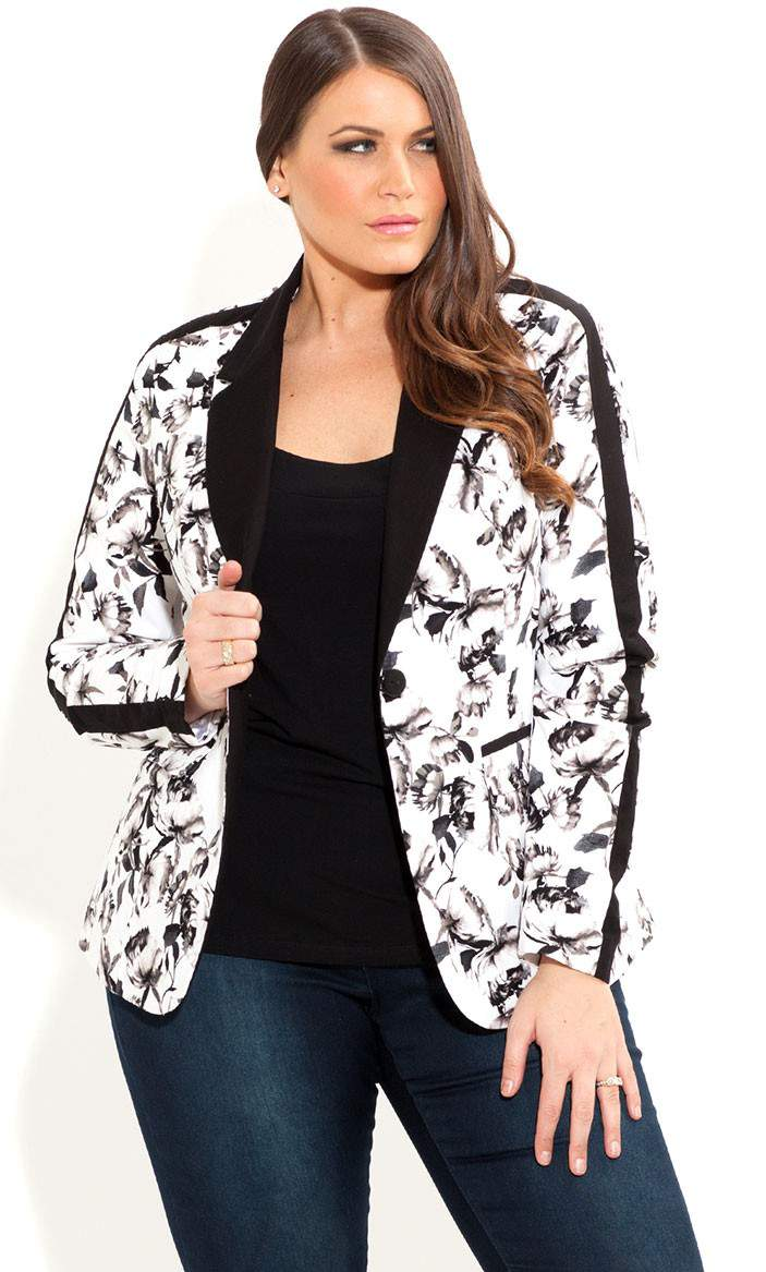 City Chic Floral Bloom Blazer