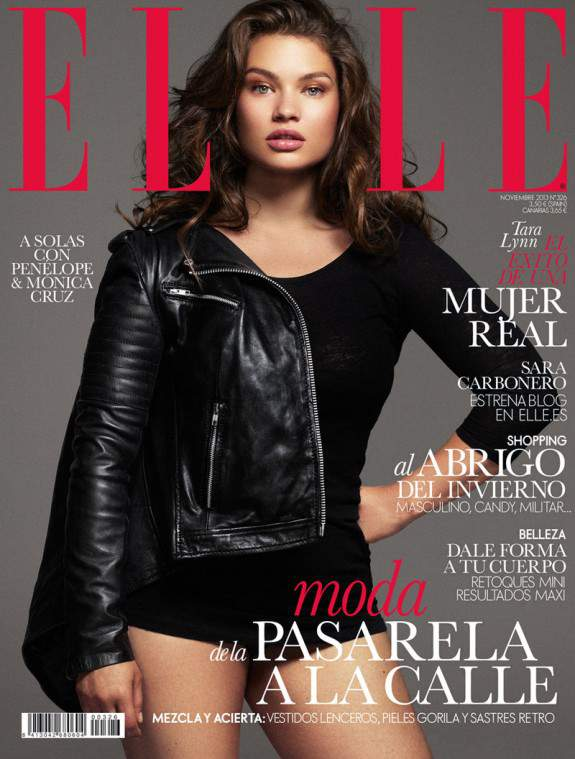 Tara Lynn on the Cover of Elle Spain