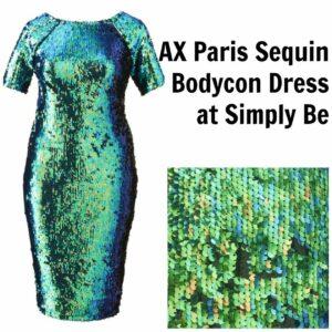 AX Paris Plus Size Sequin Bodycon Dress at Simply Be