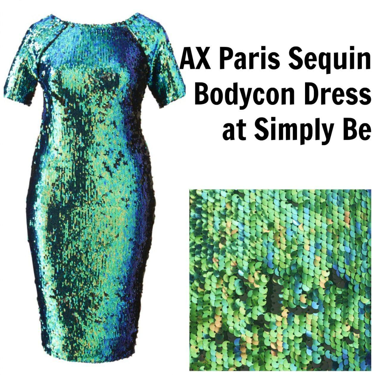 AX Paris Plus Size Sequins Bodycon Dress and more at Simply Be