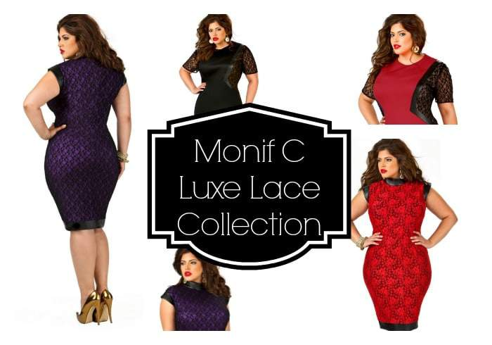 Monif C Plus Size Luxe Lace COllection