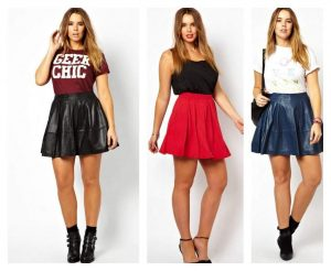 Plus size skater Skirts