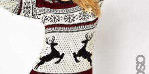 ASOS Curve In Reindeer Fairisle Plus Size Sweater