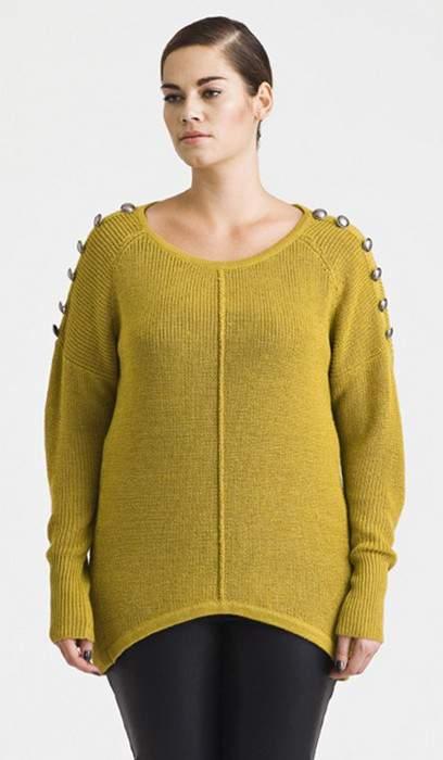 Carmakoma Os Spicy Yellow Sweater