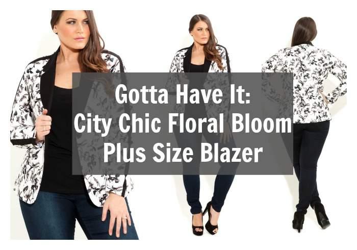 Gotta Have It: City Chic Floral Bloom Plus Size Blazer