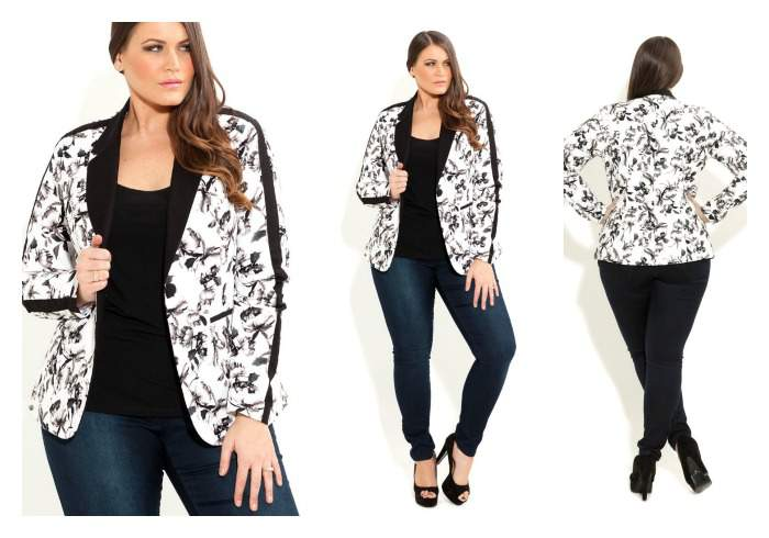 Gotta Have It: City Chic Floral Bloom Plus Size Blazer