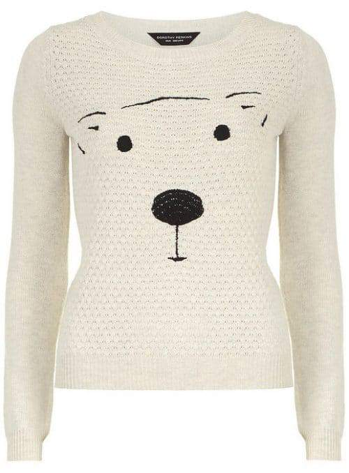 Dorothy Perkins Cute Oat Quilted Bear jumper