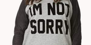 Sorry Not Sorry Raglan Plus Size Sweatshirt