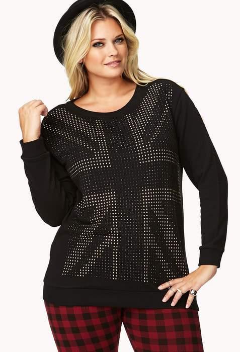 Forever 21 Plus Size Union Jack Sweatshirt