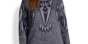 Silk Falcon-Ikat Plus Size Sweater