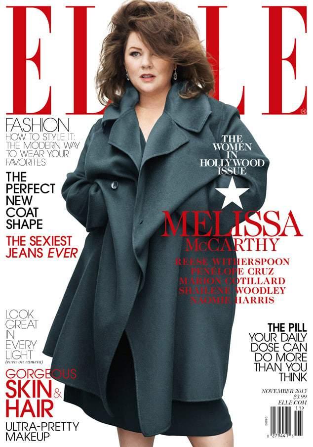 Plus size news melissa mccarthy covers elle magazine women in