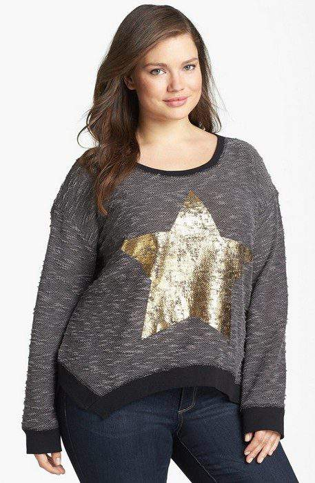 Jessica Simpson Plus Size 'Charisse' Embellished Knit Pullover