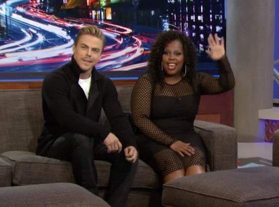 Get the Look: Amber Riley on Arsenio Hall in this Mesh Bodycon