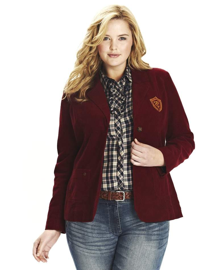 Simply Be Timeout Corduroy Blazer