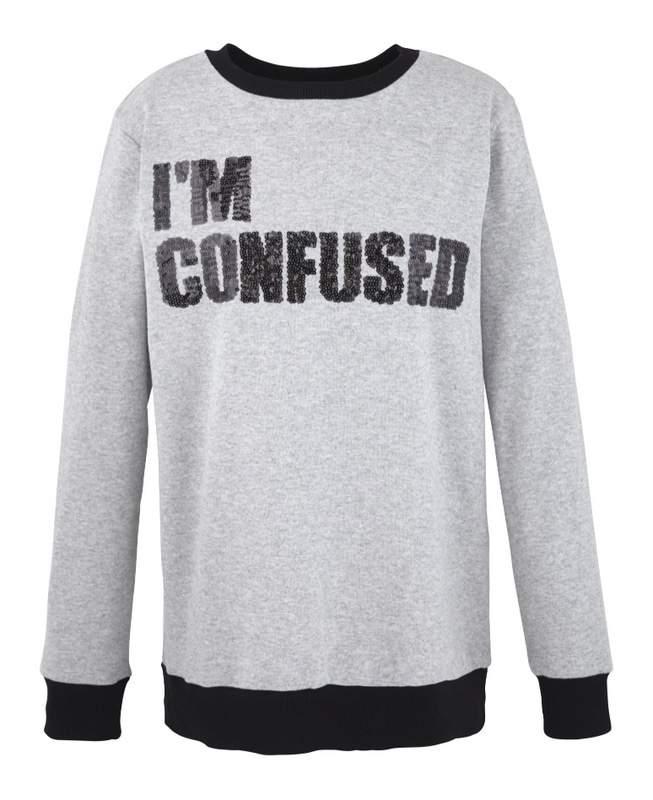 Simply Be Plus Size Glitter Slogan Sweater