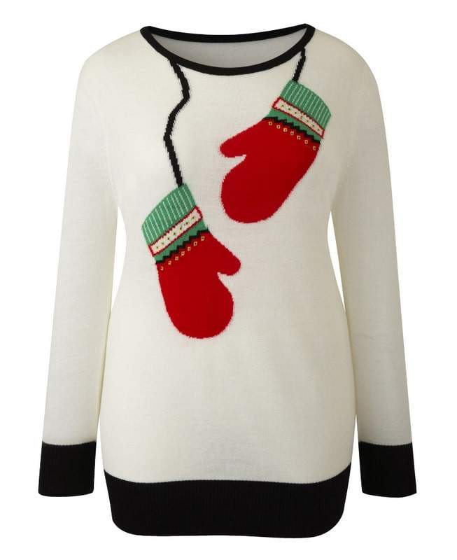 Simply Be Mitten Plus Size Sweater