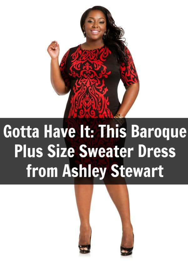 This Baroque Plus Size Sweater Dress From Ashley Stewart