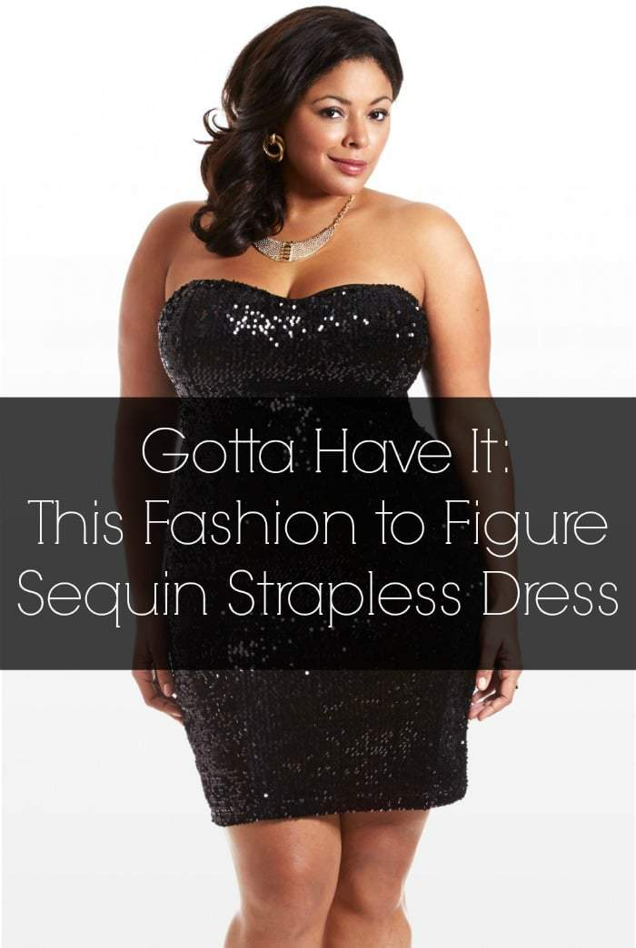 Gotta Have It: Fashion to Figure Plus Size Sequin Dress