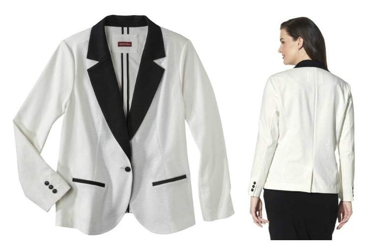 Plus size blazer from Target on The Curvy Fashionista