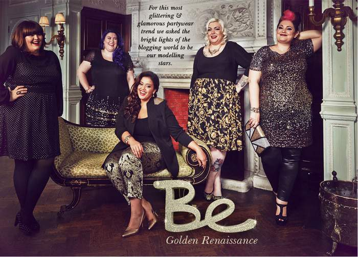 Simply Be Holiday Collection Look Book: Golden Renaissance Featuring Plus Size Bloggers