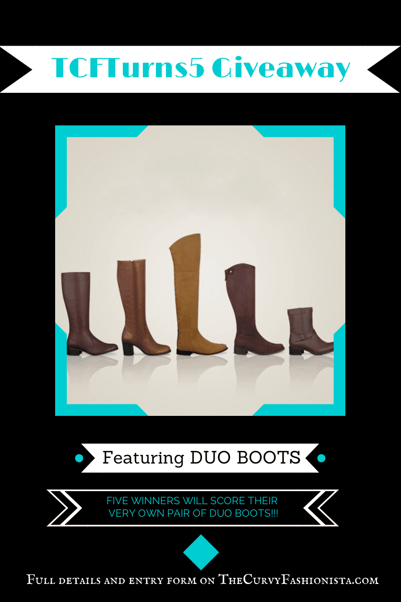 Duo Boots Giveaway on The Curvy Fashionista