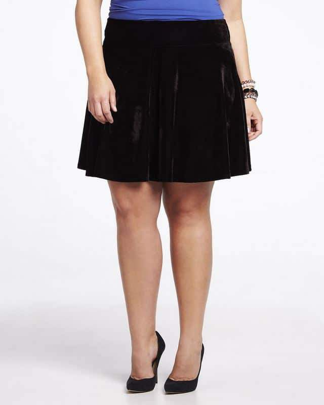 addition-elle-velvet-skater-skirt